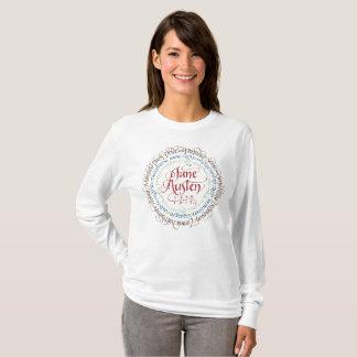 ジェーンAustenの時代劇の長袖のTシャツの白 Tシャツ