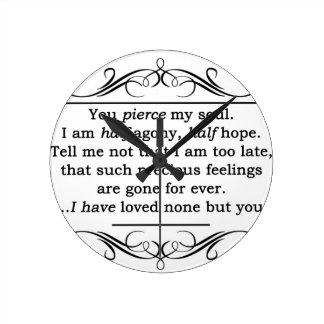 ジェーンAustenの説得の引用文 ラウンド壁時計