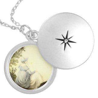 ジェーンAustenの銀によってめっきされるロケット シルバープレートネックレス