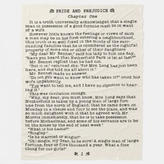 ジェーンAustenの高慢と偏見の文献の引用文 フリースブランケット
