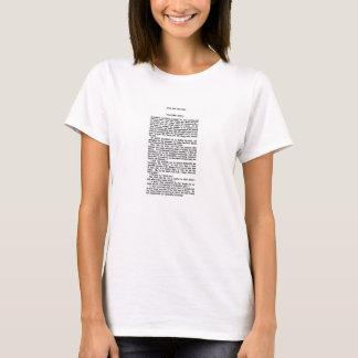 ジェーンAustenの高慢と偏見の章の抄録 Tシャツ