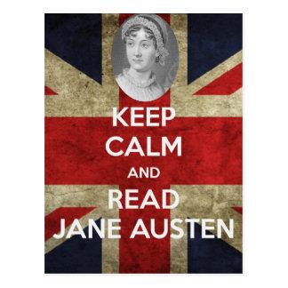 ジェーンAusten穏やか、読書保って下さい ポストカード