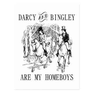 ジェーンAusten Darcy及びBingleyの同郷人の郵便はがき ポストカード