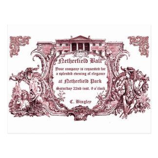 ジェーンAusten: Netherfieldの球の招待カード ポストカード
