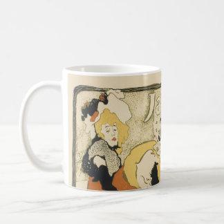 ジェーンAvril、ツールーズLautrecアールヌーボーのダンサー コーヒーマグカップ