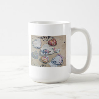 ジェーンLoveallのスタジオのハートのマグ コーヒーマグカップ
