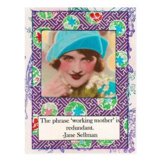 ジェーンSellmanの母性愛の引用文の郵便はがき ポストカード