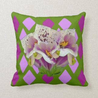 ジギタリスのPurpureaの紫色のダイヤモンド クッション
