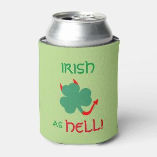 ジグを踊る悪魔の角を持つ非常にアイルランドのシャムロック 缶クーラー