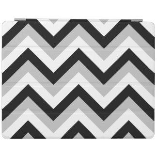 ジグザグパターンの黒の灰色白 iPadスマートカバー