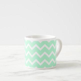 ジグザグ形のシェブロンの真新しい緑の縞 エスプレッソカップ