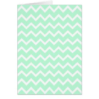 ジグザグ形のシェブロンの真新しい緑の縞 カード