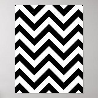 ジグザグ形のシェブロン白黒パターン プリント