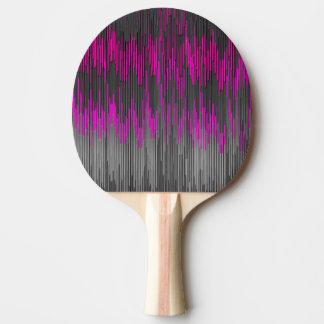 ジグザグ形のシェブロン粋なネオンピンクの黒いパターン 卓球ラケット