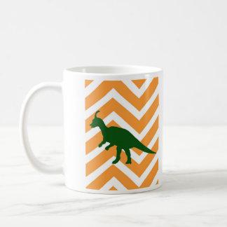 ジグザグ形のシェブロン-黄色のティラノサウルス・レックス コーヒーマグカップ