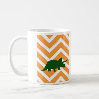 ジグザグ形のシェブロン-黄色のトリケラトプス コーヒーマグカップ