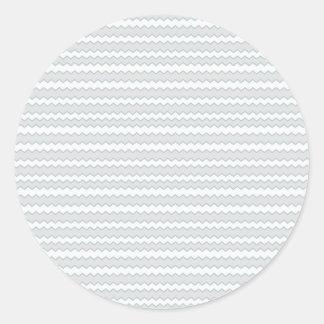 ジグザグ形のストライプな真珠の種パターン ラウンドシール