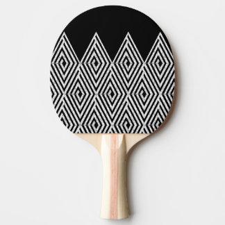 ジグザグ形のダイヤモンドのシェブロンの種族パターン 卓球ラケット