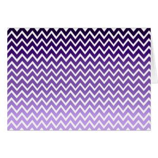 ジグザグ形の紫色のシェブロンパターン カード