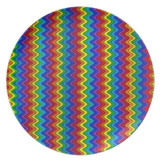 ジグザグ形の虹のプレート プレート