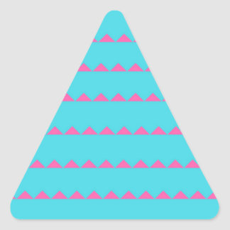 ジグザグ形の青く、ピンクのラップトップの机 三角形シール
