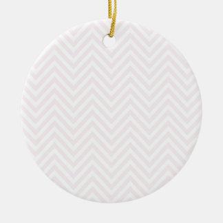 ジグザグ形のPersonalisableパターン背景のテンプレート 陶器製丸型オーナメント