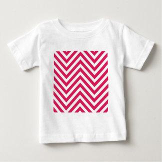 ジグザグ形ラインとの目の錯覚 ベビーTシャツ