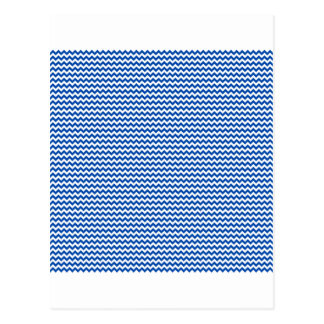 ジグザグ形-白およびコバルト ポストカード