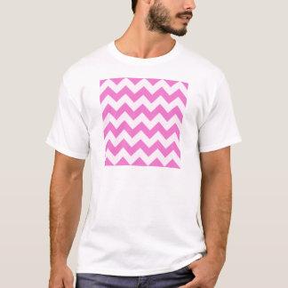 ジグザグ形I -淡いピンクおよび暗いピンク Tシャツ