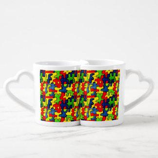 ジグソーパズルの恋人のマグ ペアカップ