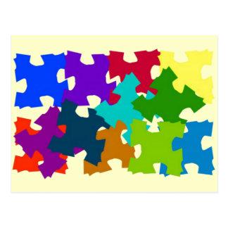 ジグソーパズルの部分 ポストカード