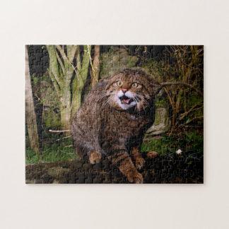 ジグソーパズル-スコットランドの山猫 ジグソーパズル