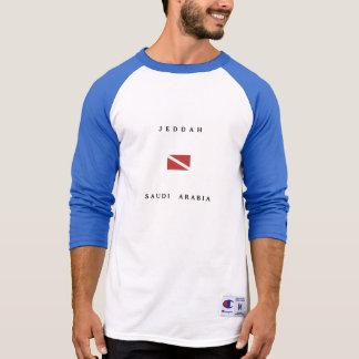 ジッダサウジアラビアのスキューバ飛び込みの旗 Tシャツ