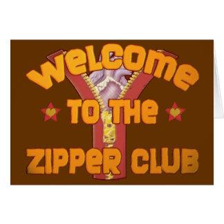 ジッパークラブへの歓迎 カード