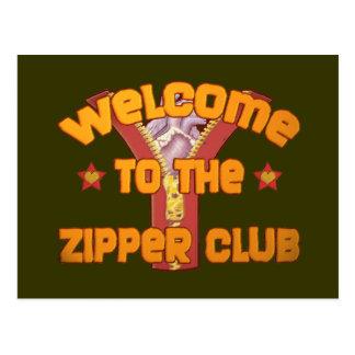 ジッパークラブへの歓迎 ポストカード