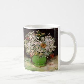 ジニアおよび花のファインアートが付いているゴッホのつぼ コーヒーマグカップ