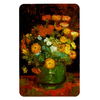 Vase with Zinnias Van Gogh Fine Art