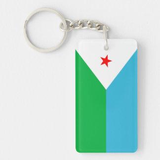 ジブチの国の長い旗の国家の記号 長方形(片面)アクリル製キーホルダー