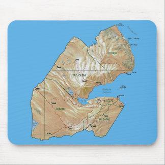 ジブチの地図のマウスパッド マウスパッド