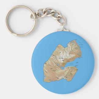 ジブチの地図Keychain キーホルダー