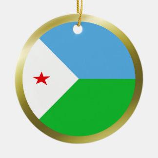 ジブチの旗のオーナメント セラミックオーナメント