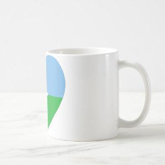 ジブチの旗のハート コーヒーマグカップ