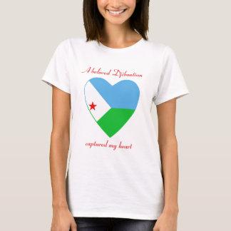 ジブチの旗の恋人のTシャツ Tシャツ