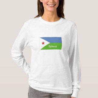 ジブチの旗の記念品のTシャツ Tシャツ