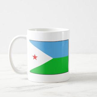 ジブチの旗の~の地図のマグ コーヒーマグカップ