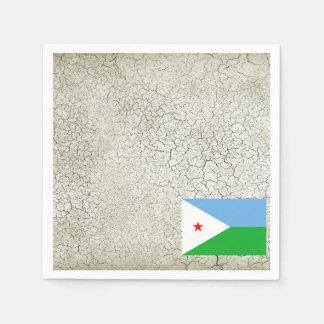 ジブチの旗 スタンダードカクテルナプキン