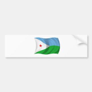 ジブチの旗 バンパーステッカー
