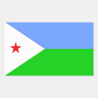 ジブチの旗 長方形シール