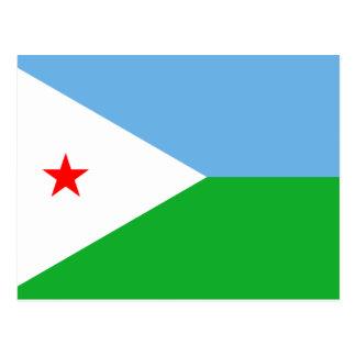 ジブチの旗DJ ポストカード