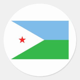 ジブチの旗DJ ラウンドシール